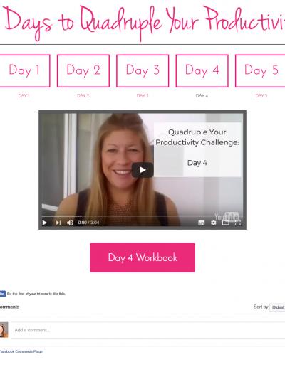 5 days to Quadruple Your Productivity