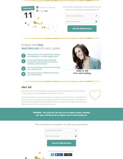Mel Noakes - webinar