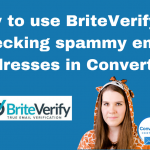 How to use BriteVerify for checking spammy email addresses in ConvertKit