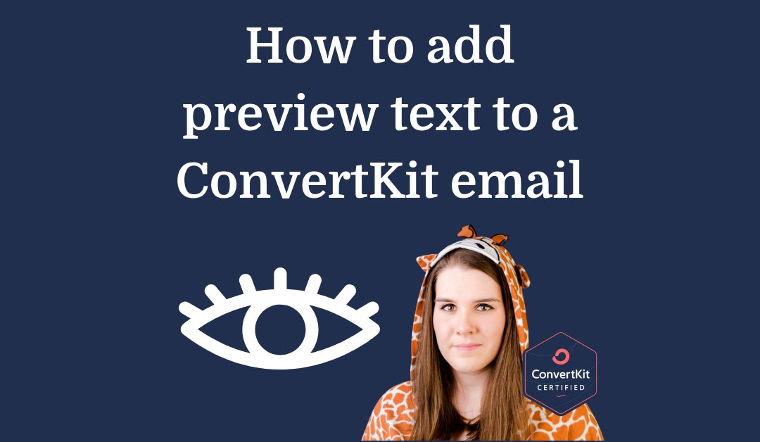 How to add preview text to a ConvertKit email